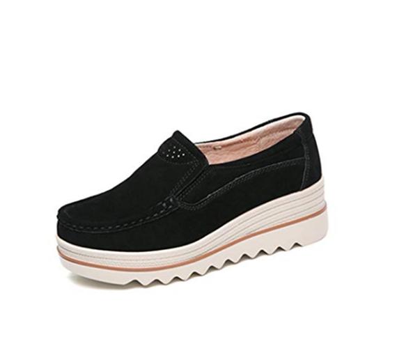 chaussures chaussures chaussures à plate - forme  s glisse sur des mocassins en daim chaussures confortables coins légers 2384e6