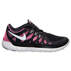 New Nike Youth Free Run 5 GS Shoes (644446 001) Black