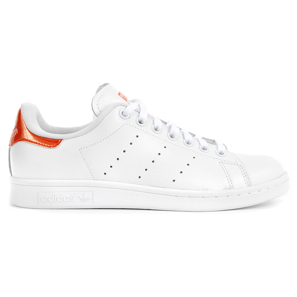 Adidas Originals Women's Stan Smith White/Orange/White Shoes S81873 NEW!