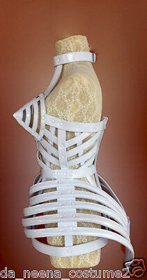DaNeeNa T029A Madonna Copy Cone Bra Pointy Cage Tail Leather Costume XS-XL
