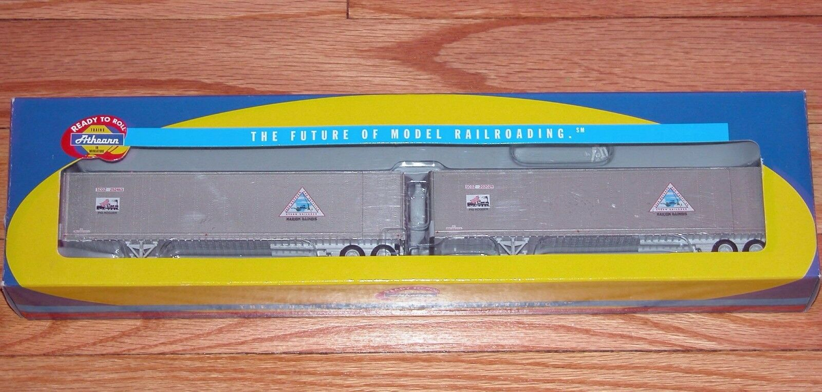 ATHEARN 73356 45' SMOOTH SIDE Z-VAN TRAILERS (2) CRAB ORCHARD & EGYPTIAN CO&E
