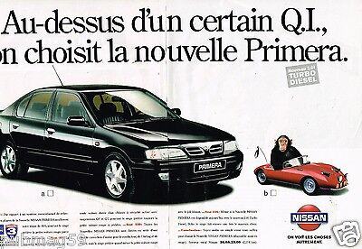 2 Pages Trustful Publicité Advertising 1996 Nissan Primera