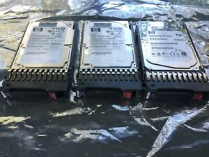 Lot-of-3-HP-Proliant-Gen7-2-5-034-SAS-HDD-With-Tray-1-x-300Gb-and-2-x-146Gb-HDD