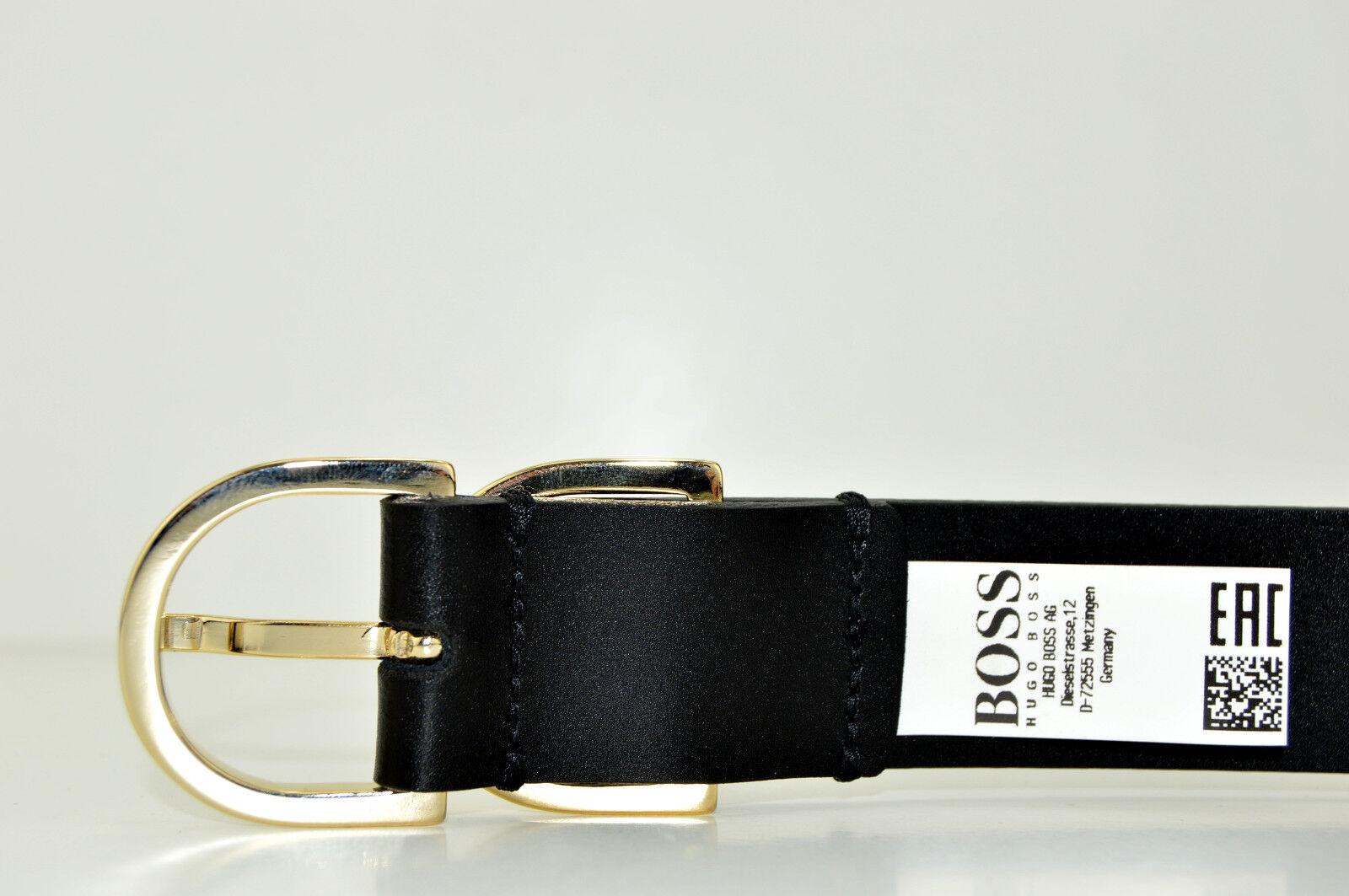 HUGO BOSS Damen Gürtel Damengürtel Ledergürtel BUSINESS KENNY Belt Schwarz NEU