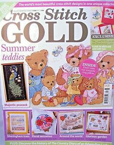 Cross-Stitch-Gold-UK-Magazine-Issue-13-August-2009-Teddy-Bears-Peacock-Garden