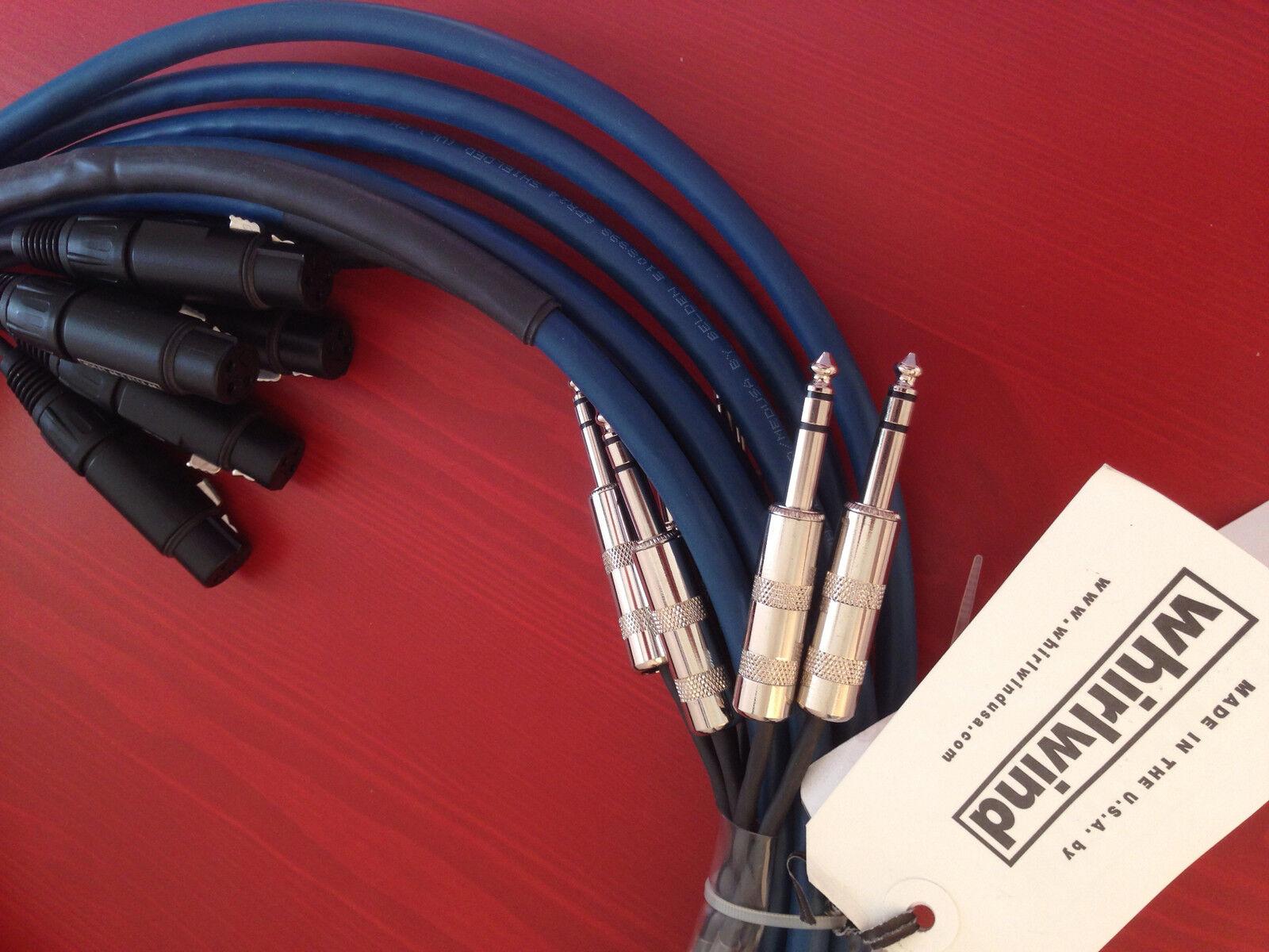 Whirlwind De Audio Multipista Snake 6 Xlr Xlr Xlr Macho A 6 Trs Macho 10ft, mt-6-m-s-10  muy popular
