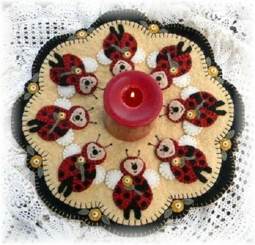 Penny Rug//Candle Mat *PATTERN* Ladybugs