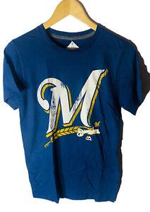 Majestic Men's Milwaukee Brewers Takin' Em To School Short-Sleeve T-Shirt SMALL