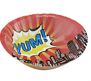 Pop-Art-Superhero-Party-Bowls-Pack-of-8