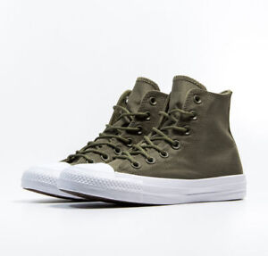 Details about CONVERSE CHUCK TAYLOR ALL STAR HI CANVAS TRAINERS MEN SHOES OLIVE SIZE 11 NEW