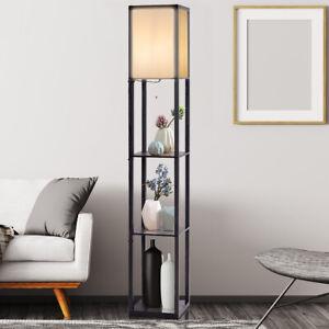COSTWAY Lampadaire d'Etagère, Lampe Debout Moderne pour Chambre à Coucher