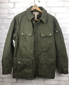 Duluth Trading Co. Green Utility Army Jacket Barn Field Coat Zip Snap Pockets M