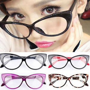 8c7172f56766 Sexy Retro Women Frame Eyeglasses Fashion Cat Eye Lens Clear ladies ...