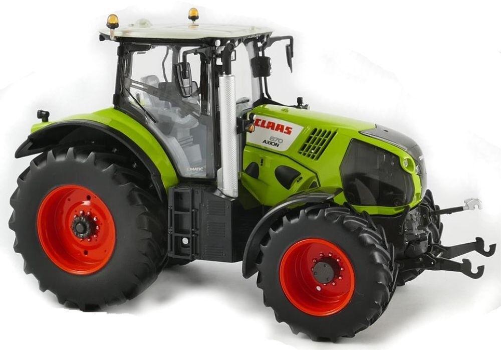 ROS170733 - Tracteur CLAAS Axion 870 équipé du relevage avant avec masse en boît