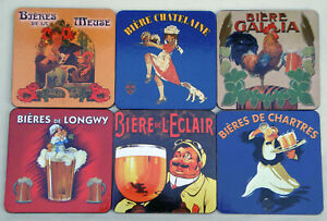 French-Drink-Coasters-Set-Vintage-French-Advertising-Set-of-6