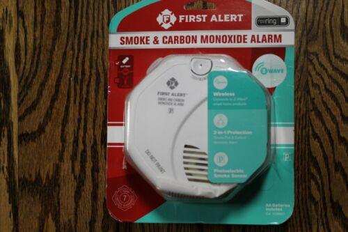Sealed-FIRST ALERT SMOKE /& CARBON MONOXIDE CO2 ALARM WIRELESS WORKS W// RING