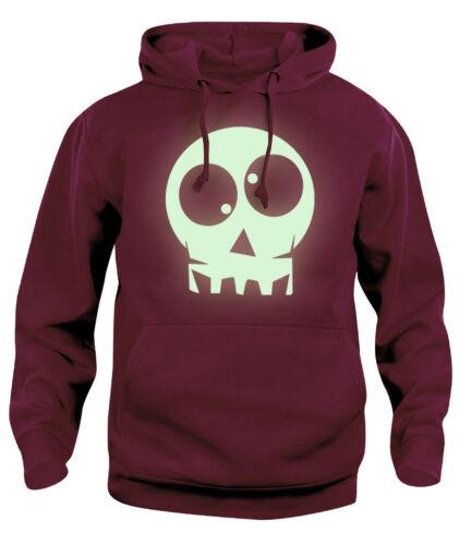 Mens women Glow-in-the-Dark Skull Halloween Hooded Sweatshirt NEW S-XXL