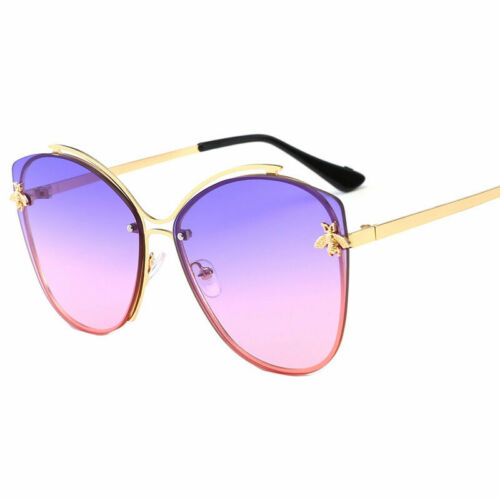 Fashion Little Bee Round Mirrored Sunglasses Outdoor Sport Driving For Women