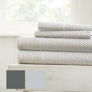 Home-Collection-Premium-Ultra-Soft-4-Piece-Stippled-Pattern-Bed-Sheet-Set