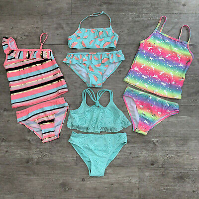 Primark Girls Swimming Costume Bikini Tankini Two Piece Beach Pool Swimsuit 7-15