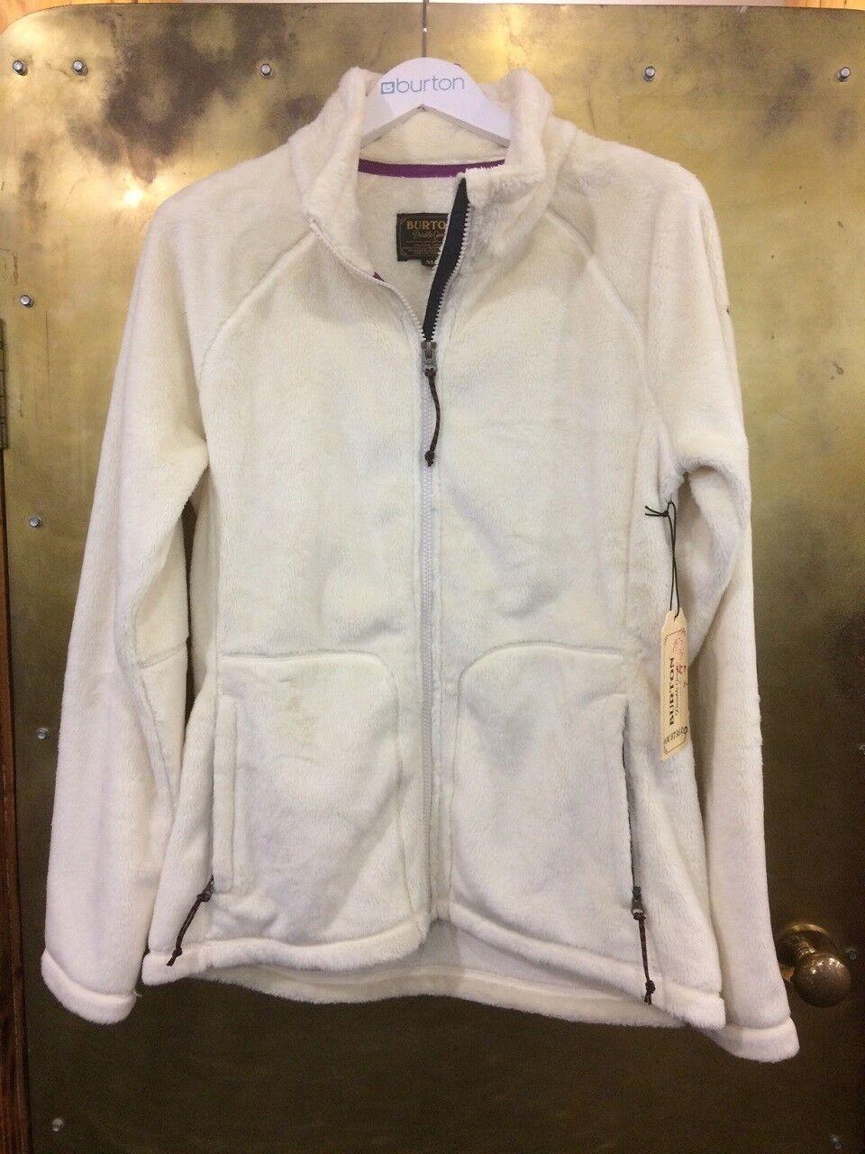 Burton Women's Mira Zippered Fleece - Medium - Cream - RRP .00