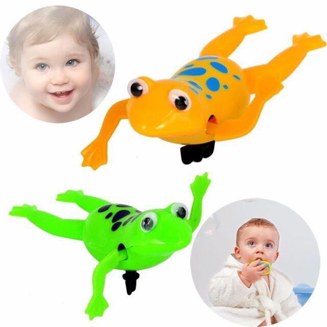 Shower Kids Bath Toys Plastic Baby Wind Up Clockwork Swimming Cartoon Toy
