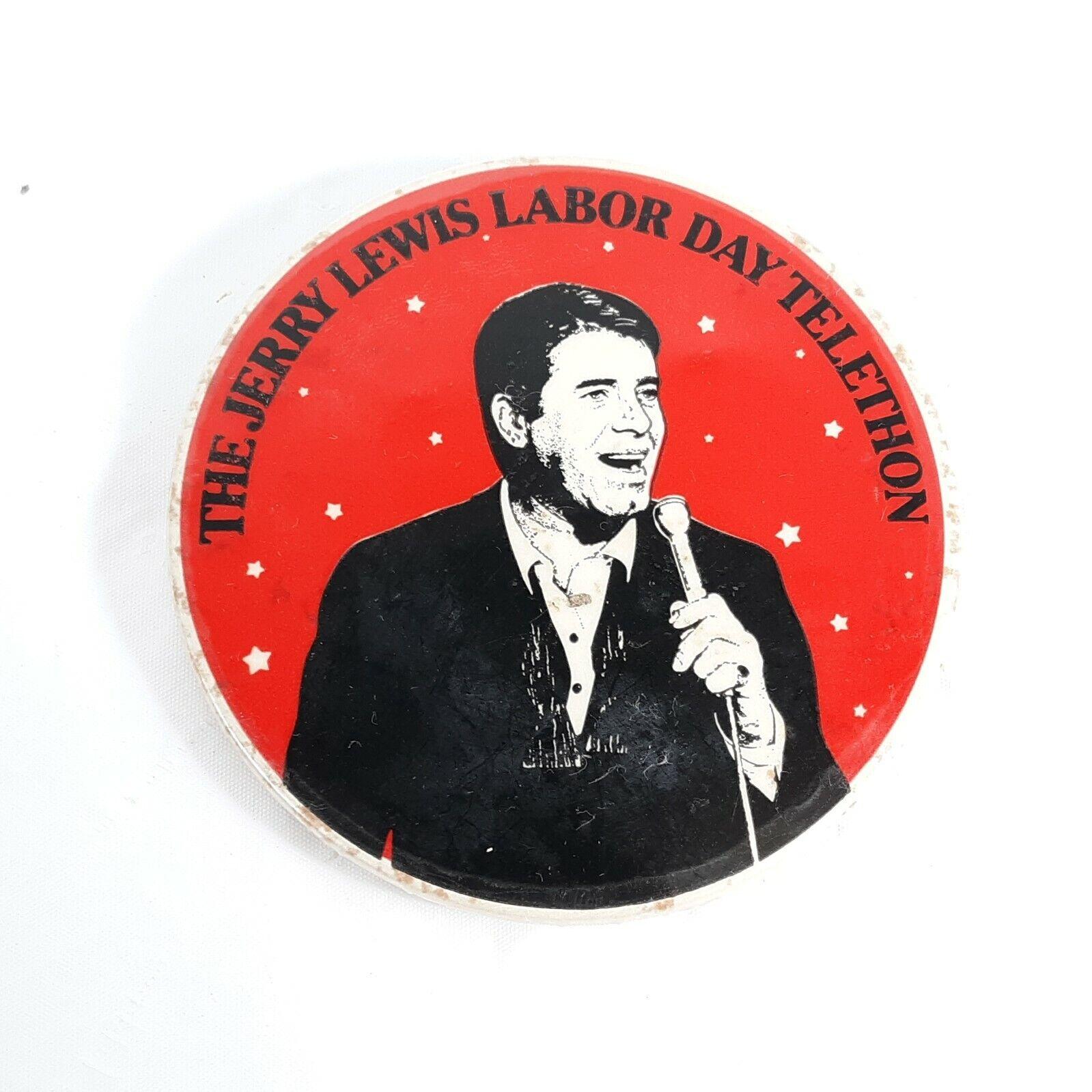 """Image 1 - Jerry Lewis Day Telethon Vintage Button 3"""" Diameter"""