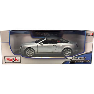 Maisto-Bentley-Continental-Supersports-1-18-Diecast-Model-Car-Silver