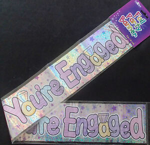 new FOIL ENGAGEMENT BANNERS  WALL BANNERS HAPPY ENGAGEMENT PARTY DECORATION