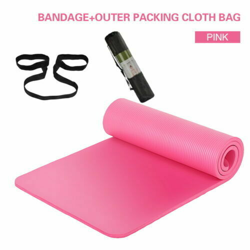 10mm~15mm Thick Yoga Mat Non-Slip for Pilates Gym Exercise Physio Picnic Camping