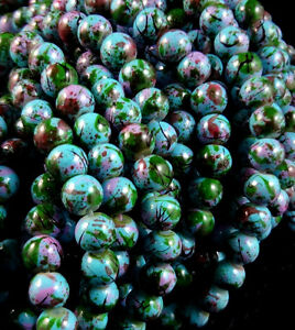 Hot Round Multicolored Glass Spacer Beads Charm Fashion Jewelry Findings 6mm