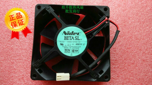 for Nidec 8025 D08A-12TS3 03 DC12V 0.50A Air volume 8CM cooling fan