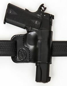 Belt-Ride-Leather-Gun-Holster-LH-RH-For-Glock-17-22-31-w-CT-Laserguard