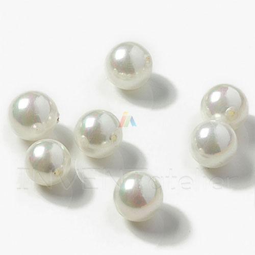 2x 6x demi-percé Rond Mer Coquille Majorica Perles pour fabrication boucles d/'oreilles Pendentif
