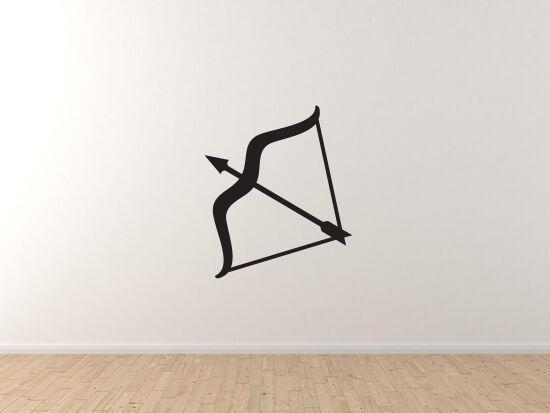 Zodiac Hgoldscope Astrology - Sagittarius Archer  Symbol - Vinyl Wall Decal