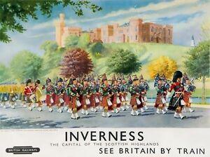 TX289-Vintage-Inverness-Scotland-British-Railway-Travel-Poster-Re-Print-A2-A3-A4
