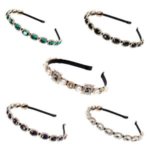 Baroque-Ladies-Jewelled-Headband-Crystal-Embellished-Hairband-Hair-Accessories