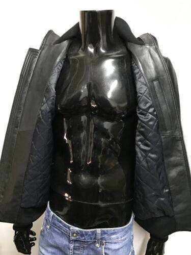 ed346b36c Soft Handmade Color Bomber Men Black Italian Genuine 2xl Leather ...