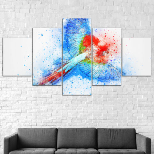 Parrot Bird Abstract Canvas Print Painting Framed Home Decor Wall Art Poster