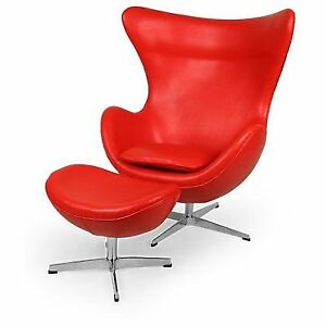 Incredible Kardiel Egg Chair Ottoman Premium Aniline Leather Caraccident5 Cool Chair Designs And Ideas Caraccident5Info