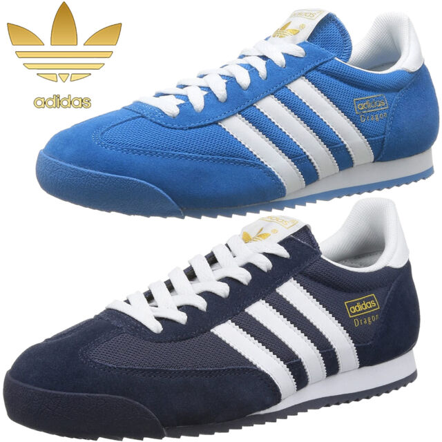 Mens Adidas Originals Dragon Trainers Retro Sports Running Shoes Size