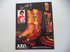 advertising Pubblicità 1982 AXO e ANDRE' MALHERBE