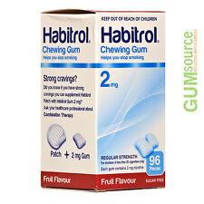 Habitrol 2mg FRUIT  2 boxes 192 pieces Nicotine Quit Smoking Gum