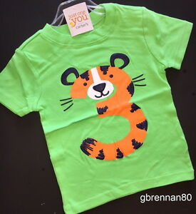 Image Is Loading NEW 3rd Birthday TIGER Baby Boys Shirt 4T