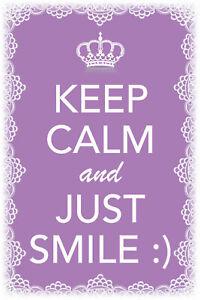 Keep-Calm-And-Just-Smile-Panneau-Metallique-Plaque-Voute-Etain-Signer-20-X-30-CM