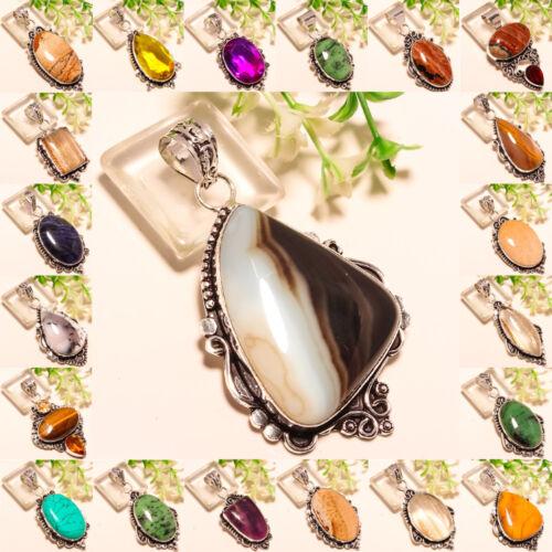 Free Shipping Multi-Cut 925 Silver Handmade Gemstone Jewelry Pendant