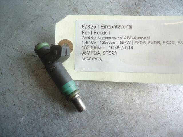 inyector de combustible Ford Focus I 98MFBA 1.4i 16V 55kW FXDA. FXDB. FXDC. FXDD