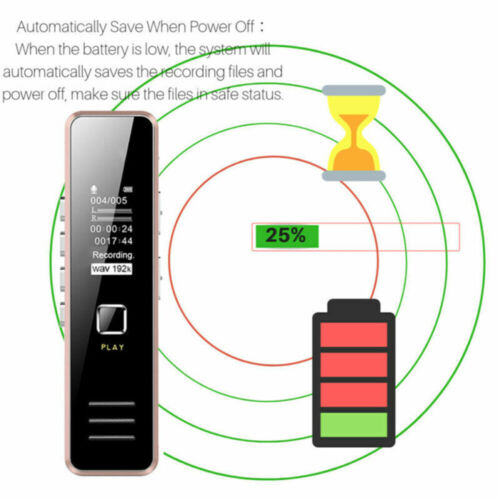 "16GB USB 1.2/""OLED HD Mini Voice Recorder Pen Audio Sound Recorder MP3 Dictaphone"