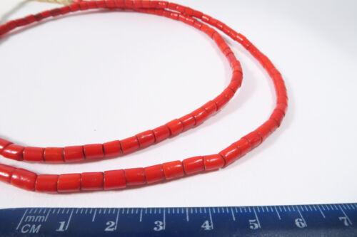 alte kleine böhmische Glasperlen rot 4mm AF51 Old Bohemian Trade beads Afrozip