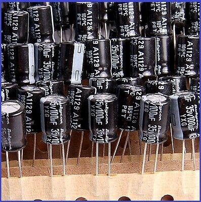 100uf 35v Radial Electrolytic Capacitor 35v100uf  Rubycon low ESR 10pcs-